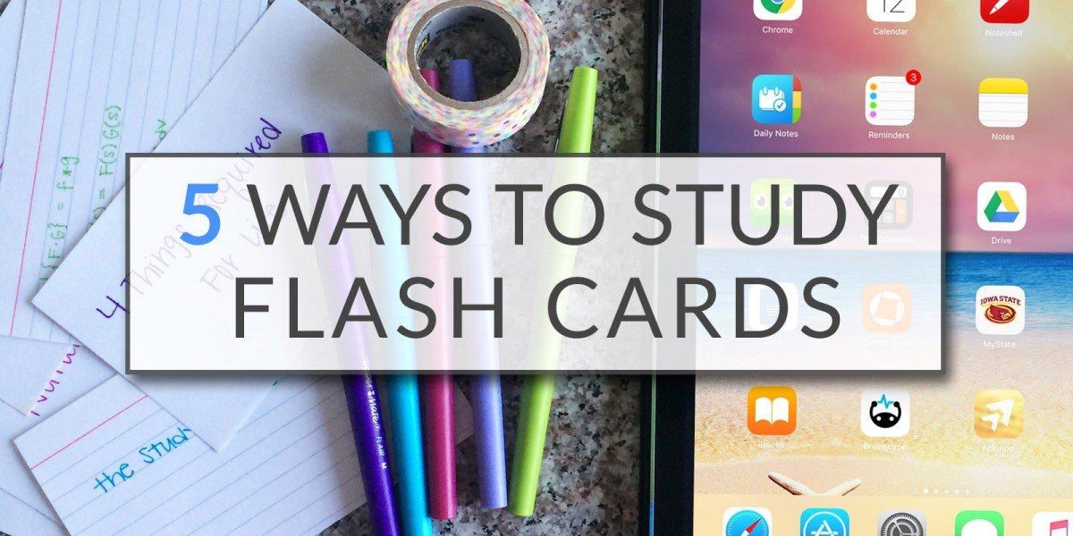 5 Ways To Study Flash Cards | College Tips | Hayle Olson | www.haylesantella.com