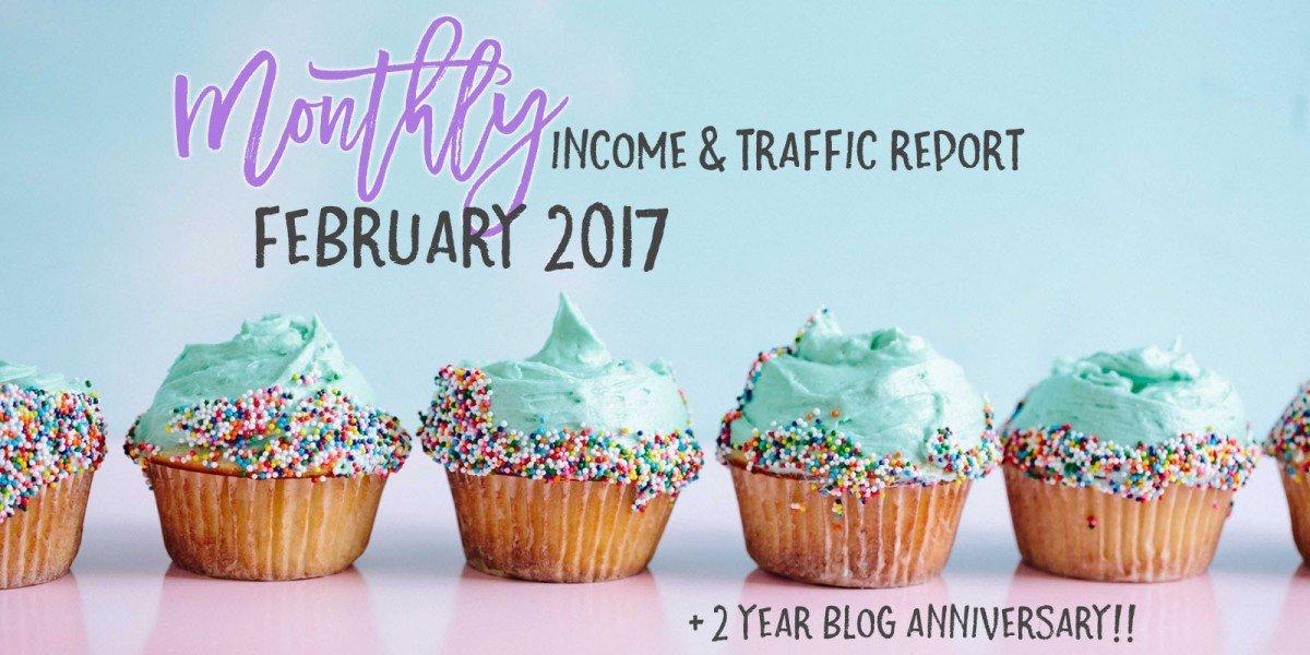 February 2017 Income & Traffic Report | Income Report | hayle santella | www.haylesantella.com